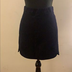 J. Crew Navy Wool Mini Skirt